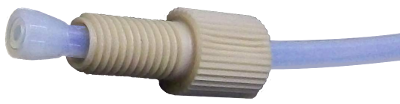 Compression fitting to 1/16 inch or 1/8 inch OD plastic tubing